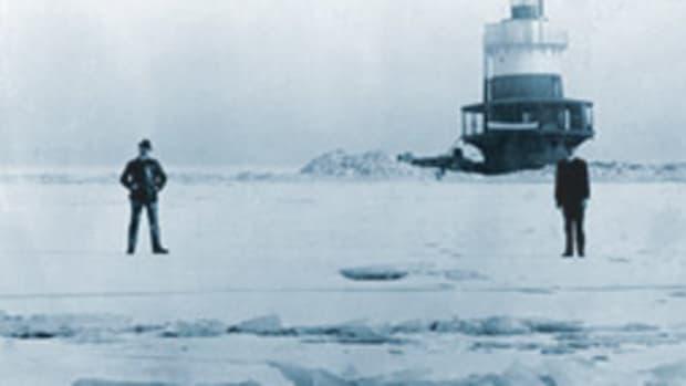 Rockland Lake Lighthouse on the Hudson, circa 1915