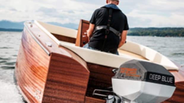 Torqeedo Deep Blue 80-hp electric outboard