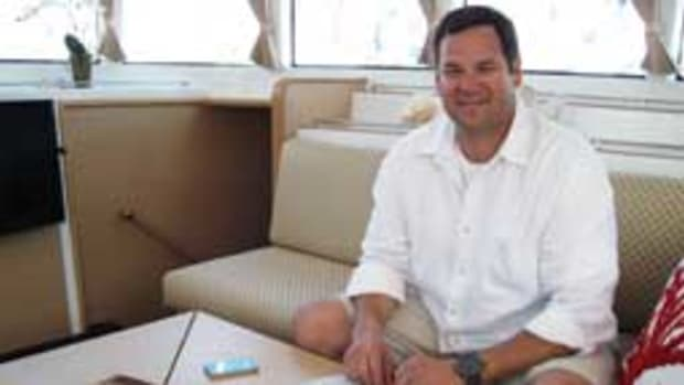 Scott Leonard intends to use technology to oversee his company from the boat.