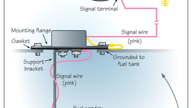Drawing of Fuel Gage System