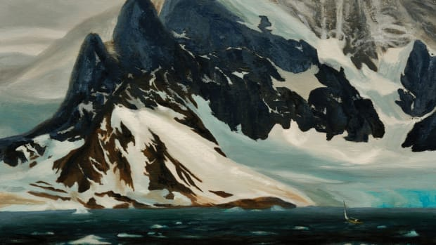 Oil painting of Antartica Neumayer Channel
