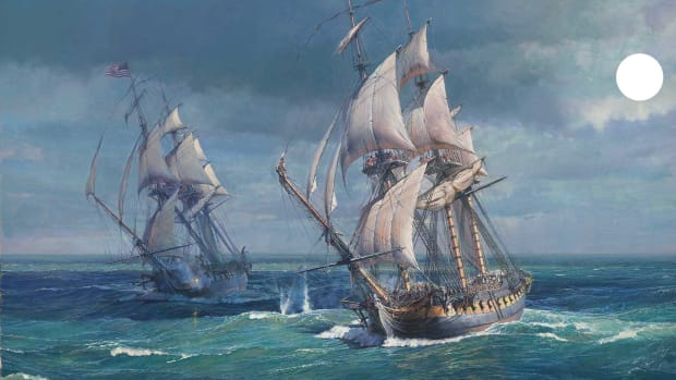 06.-Opening-shots,-USS-Constitution-vs-HMS-Guerierre_1800
