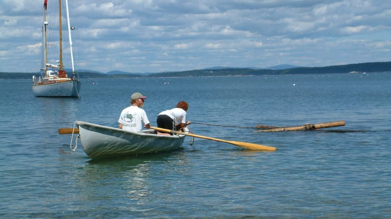 The boy and his raft: A perfect day on the coast of Maine