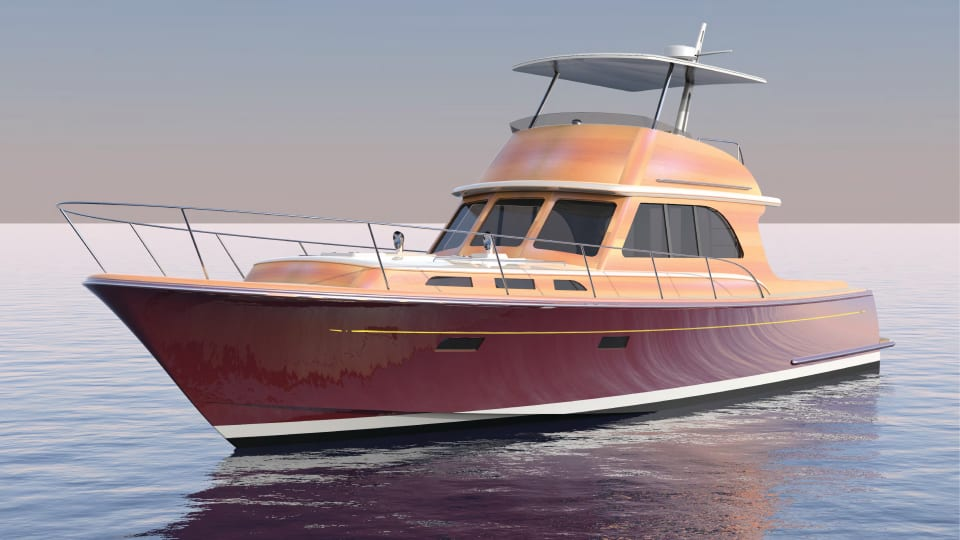 Lyman-Morse Building 57-foot Hood Yacht with New Methods
