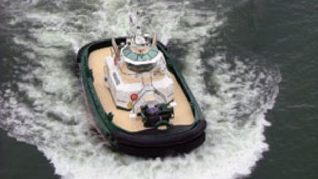 A Dolphin Class tug similar to this one is going to be converted to hybrid propulsion.