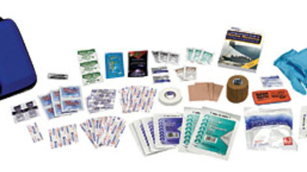 Prepackaged medical kits are stocked for specific types of boating and ailments.