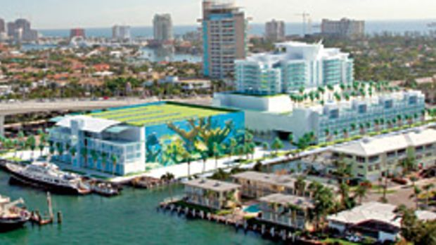 The waterfront marina development named The Sails will be a prominent structure on the Fort Lauderdale skyline.