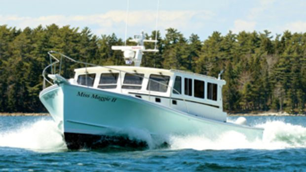 Miss Maggie II, a Calvin Beal 38 built by SW Boatworks, is powered with a Cummins QS11 that lets her do 25 knots.