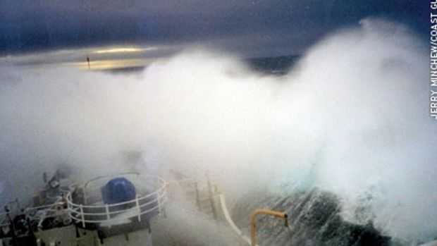 The Bering Sea is one of the most unforgiving bodies of water on the planet. This photo was taken aboard the Coast Guard cutter Storis while on patrol.