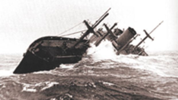 Capt. Henrik Kurt Carlsen became a hero in 1952 for his refusal to abandon the Flying Enterprise after a wave cracked the freighter's hull.
