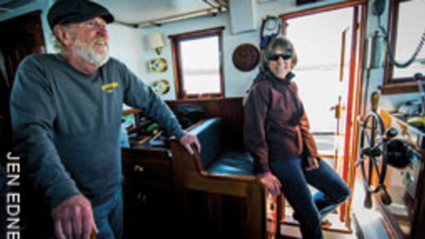Chris and Kathy Grace have owned other boats, but Petrel was the ideal choice for cruising the changeable waters of the Pacific Northwest.