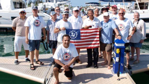 La Trappe Creek Society, with Pire (center) at Cayo Largo Marina.