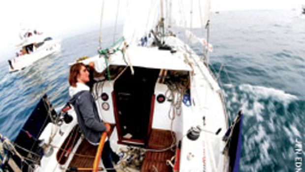 Sunderland sailed into Marina Del Rey to a hero's wlecome.