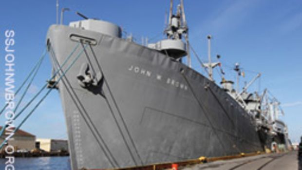 The John W. Brown is a museum ship and a memorial to those who served aboard her.