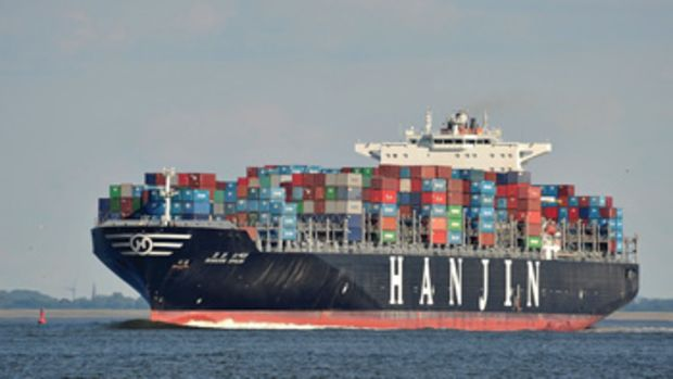 Around 128 ships were carrying $14.5 billion worth of cargo when Hanjin filed for bankruptcy protection.