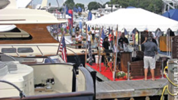 Sunny weather the first three days brought out the crowds at the Norwalk Boat Show & Waterfront Festival. Attendance dropped on the rainy final day of the show.