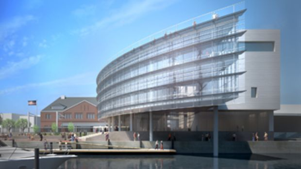 The National Coast Guard Museum (shown here in a rendering) will be built on the Thames River in New London, Connecticut.