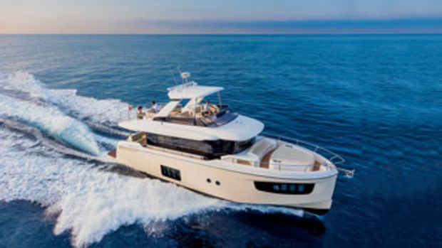 With her bright, open spaces and contemporary design, the 52 Navetta is a good example of the European fleet.