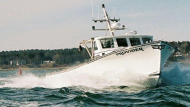 The Lowell 43 split pilothouse lobster boat, Provider.