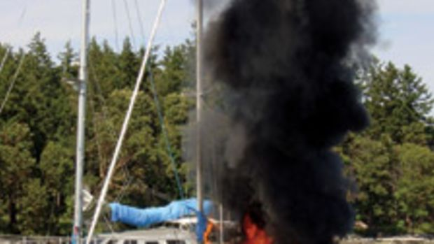 A fire at the dock can be as dangerous as one at sea if there is no means of egress for anyone trapped aboard.