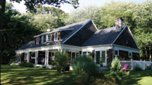 The three-bedroom house is on Prudence Island.