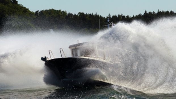 Finnish boats are known for their capabilities in rough water. They're designed and built to take a pounding.