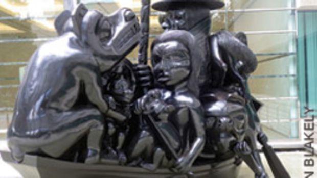 Bill Reid's sculpture The Black Canoe