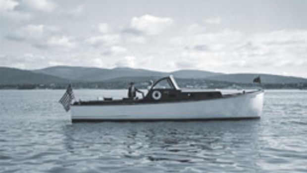 Rachel was a 32-foot Hinckley cruiser (here in 1937) owned by Dr. Fred C. Holden.