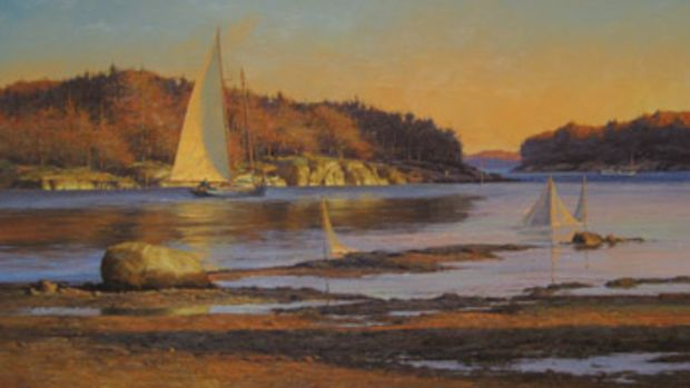 Oil painting by Don Demers.