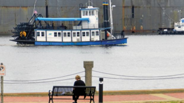 The Elizabeth River Ferry provides public transportation at Mile Zero.
