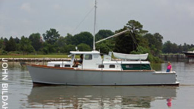 Sweet and Low is a utilitarian cruiser that Ralph Wiley built as he transitioned out of sailboat racing.