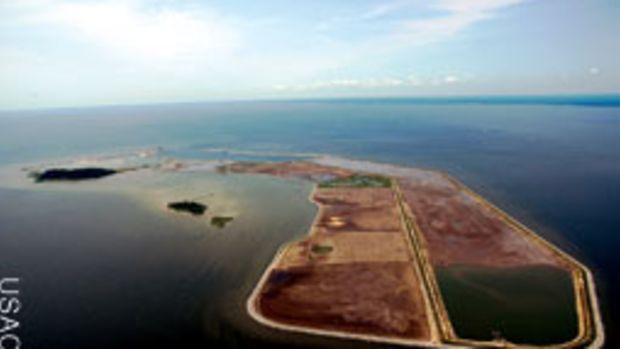 The Army Corps of Engineers is rebuilding Poplar Island using clean dredge material from the Chesapeake.