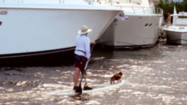 Richard Hughes and Pippin are an inseparable pair on the water.