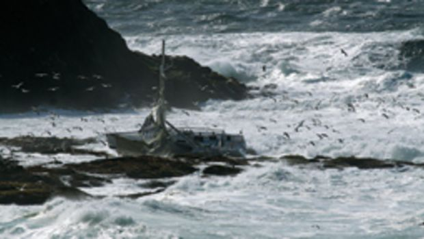 Five sailors died in the full Crew Farallones Race in April when their Sydney 38 rolled in breaking surf.