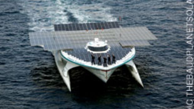 Turanor PlanetSolar is the first boat to circle the globe under just the power of the sun.