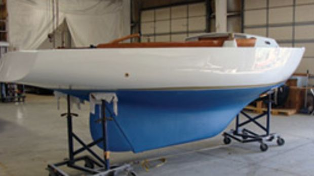 The owner of this 1963 Ensign hired Metan Marine of Halifax, Mass., to restore the sailboat after the company restored his 23-foot 1976 SeaCraft center console.