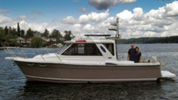 Dave and JoAnn Leibman's Cutwater 28 is their fifth boat.