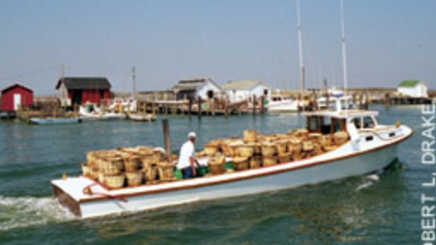 A traditional deadrise workboat