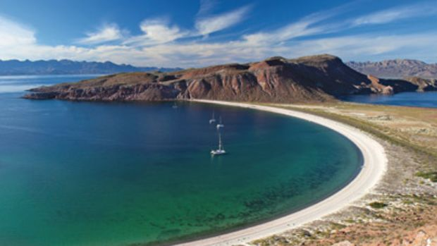 The Hook, a circular bay at Isla San Francisco, is an ideal place to anchor.