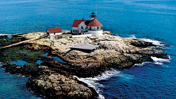Cuckolds Fog Signal and Light Station in Maine as it looked in the 1950s.