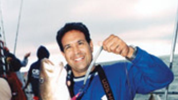 Steve Cannizzo, who organized the trip through his www.fishingunited.com, jigged up a nice cod on Fippennies Ledge, one of three spots fished.