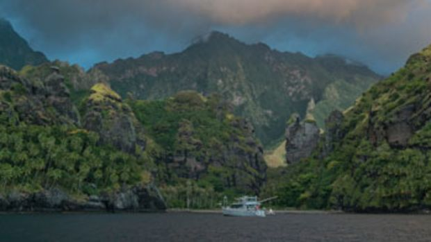 The Dashews have visted Hana Vave Bay on Fatu Hiva three times and find it the most beautiful bay in the world.