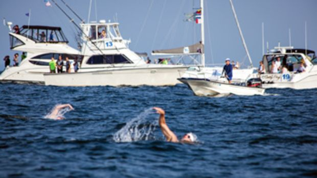 St. Vincent's Swim Across the Sound relies on volunteer boaters to escort swimmers and mark the race perimeter.