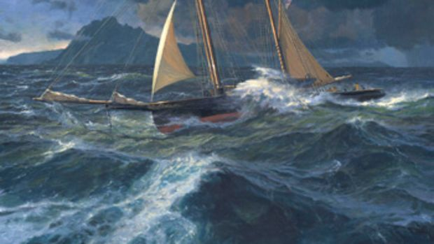 Oil painting by Russ Kramer.