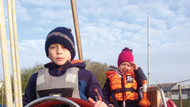Jasper (at the helm) and Lisbeth Johannsen were introduced to sailing at a very young age.