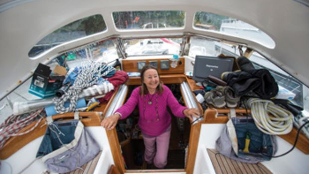Jeanne Socrates will be the oldest person to sail around the world solo and nonstop if she completes her encore voyage. She was 70 when she finished her last circumnavigation.