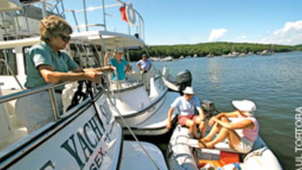 The Nordic Tug lifestyle attracts many former sailors who enjoy cruising in greater comfort for extended periods.