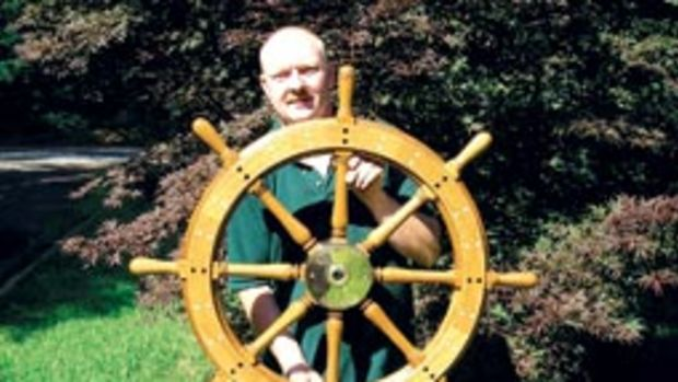 Bob Fuller learned his boatbuilding skills - including crafting ships' wheels - from his father and grandfather.