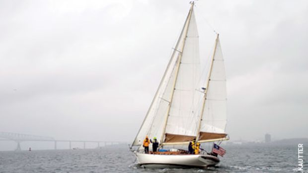White Hawk, a 44-foot Cherubini ketch, tacked its way to victory in this year's Constellation Cup.