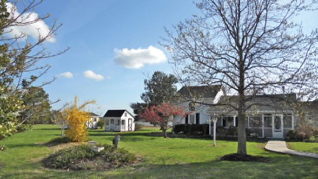 This Cambridge, Maryland, home sits on 3 acres and includes 700 feet of waterfront and a pier.